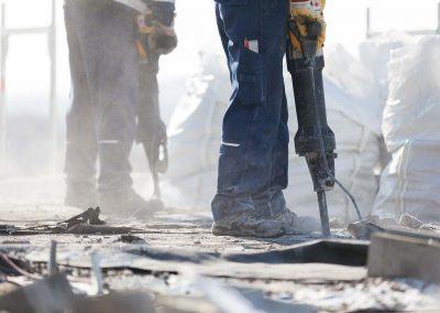 Schell & Cie s'occupe de la démolition de bâtiments, même dans les zones citadine à forte population